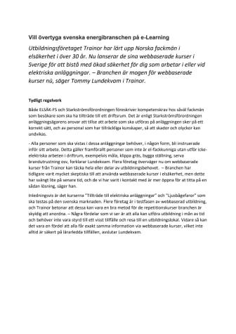 Vil overbevise svensk energibransje om e-læring