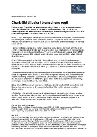 Chark-SM tillbaka i branschens regi