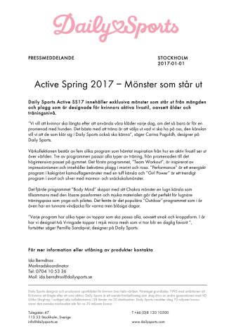 Active Spring 2017 – Mönster som står ut