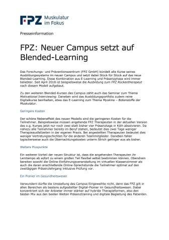 FPZ: Neuer Campus setzt auf Blended-Learning