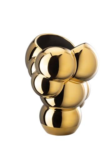 R_Skum_Vase_26_cm_Weiss_Gold