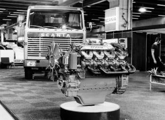 Scania V8 mit 350 PS auf der IAA 1969