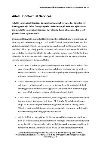 Aitellu Contextual Services affärsområde pdf