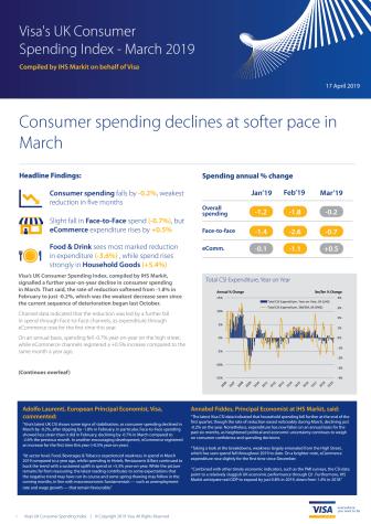 Visa's UK Consumer Spending Index - March 2019