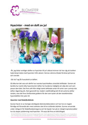 ​Hyacinter - med en doft av jul