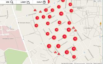 Ny avbrottskarta ger bättre information vid avbrott