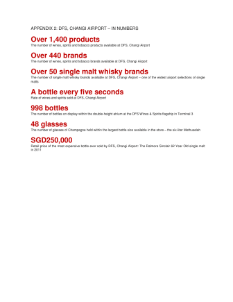 Appendix 2 - DFS Changi Airport in numbers
