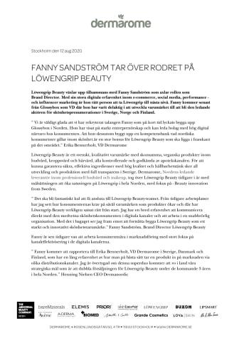 Fanny Sandström Brand Director Löwengrip Beauty