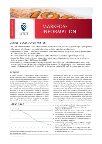 Markedsinformation 2. september 2019