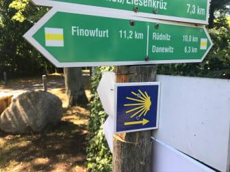 Wegweiser Jakobsweg
