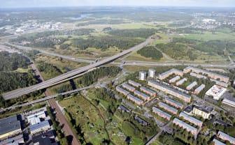 Tyréns är med och utformar trafikplatser på E18 mellan Jakobsberg och Hjulsta