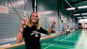 Penny Parnevik testar Badminton Skogås