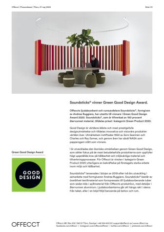 Soundsticks® vinner Green Good Design Award