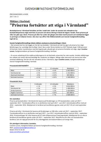 """Mäklare i Karlstad: """"Priserna fortsätter att stiga i Värmland"""""""