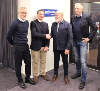 På bilde fra venstre: Egil Messmer (CEO Wexus), Matthias B. Tanski (CEO CIC Hospitality), Johan Kukacka (CEO Best Western Skandinavia), Ronny Granli (Teknisk Direktør Wexus)