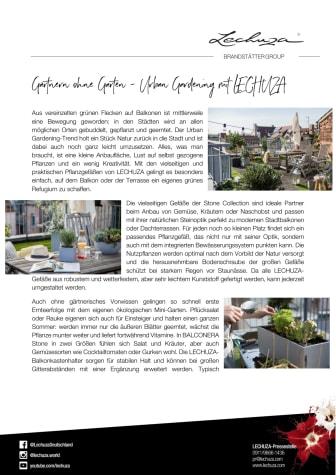 Gärtnern ohne Garten - Urban Gardening mit LECHUZA