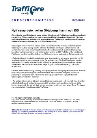 Nytt samarbete mellan Göteborgs hamn och ISS