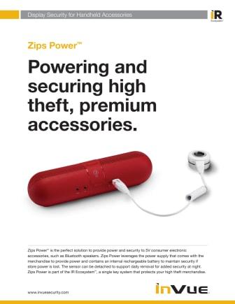 Varularm från Gate Security - InVue, Zips! Power