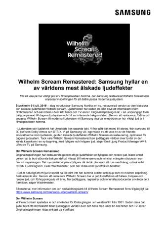 Wilhelm Scream Remastered: Samsung hyllar en av världens mest älskade ljudeffekter