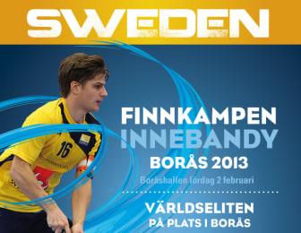Finnkampen i Innebandy Borås 2013 - Boråshallen 2 februari