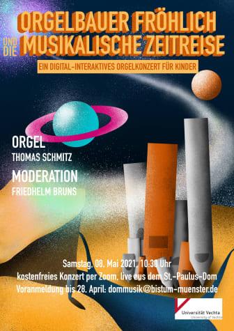"""Plakat: """"Orgelbauer Fröhlich und die musikalische Zeitreise"""""""