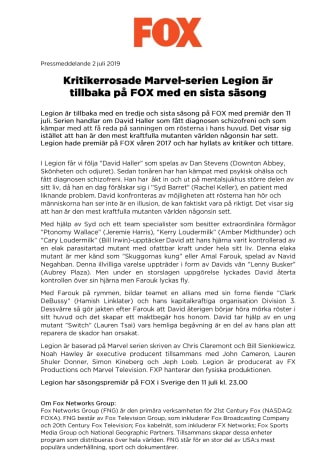 Kritikerrosade Marvel-serien Legion är  tillbaka på FOX med sin sista säsong