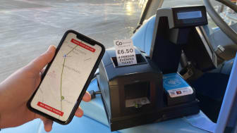 Go North East mobile app and evening ticket