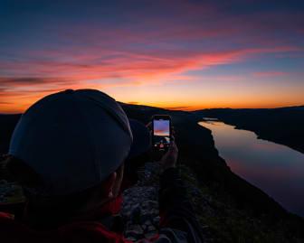Solnedgang over Skagsvola