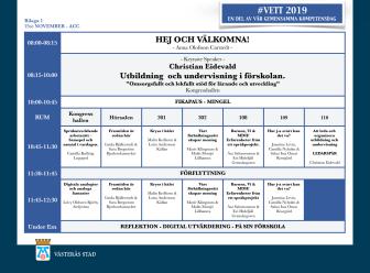 Program till #VETT2019