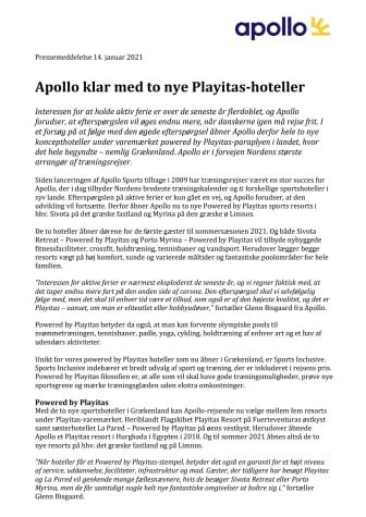 Apollo klar med to nye Playitas-hoteller