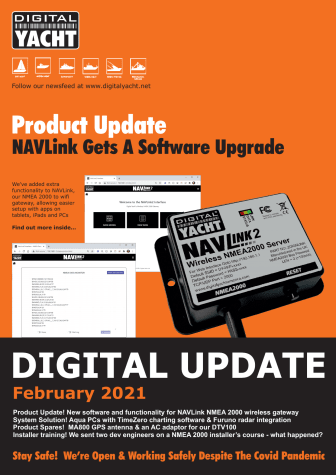 Digital Yacht Newsletter February 2021 Now Available