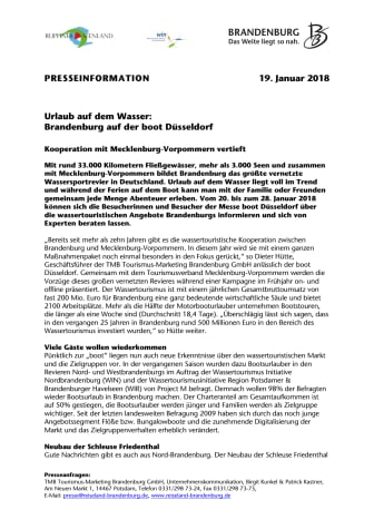 Urlaub auf dem Wasser: Brandenburg auf der boot Düsseldorf