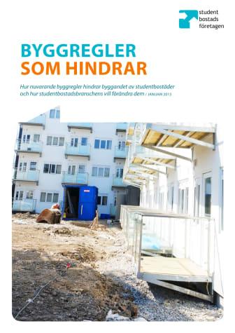 Sammanfattning: Vilka regler försvårar nyproduktion av studentbostäder?