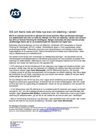 ISS och Aleris redo att möta nya krav om städning i vården