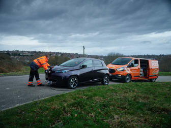 The RAC's EV Boost system in action