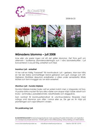 Månadens blomma – juli 2008