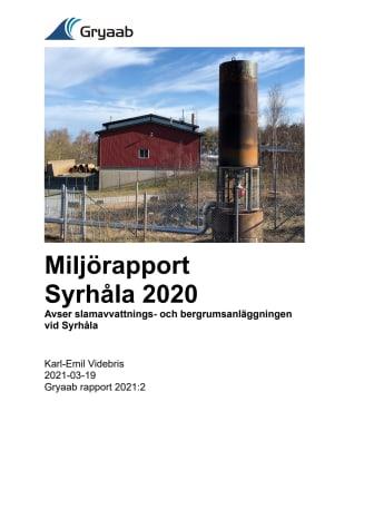 Miljörapport Syrhåla 2020