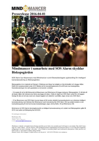 Mindmancer i samarbete med SOS Alarm skyddar Biskopsgården