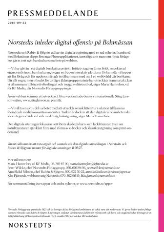 Norstedts inleder digital offensiv på Bokmässan