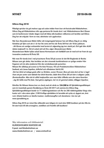 Sillens Dag och Årets Sill skänker 124.200 kr till Sjöräddningssällskapet