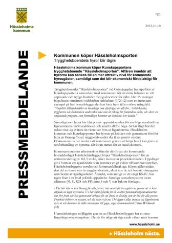 Kommunen köper Hässleholmsporten