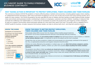 ICC/UNICEF Guide to family-friendly business continuity