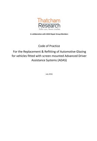 ADAS Glazing Code of Practice
