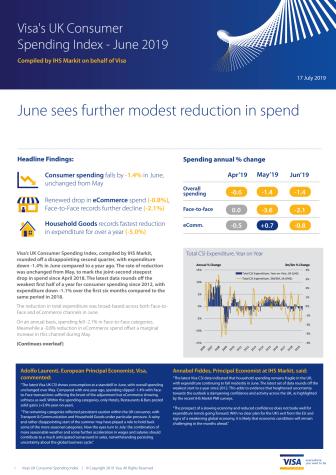Visa UK Consumer Spending Index - June 2019