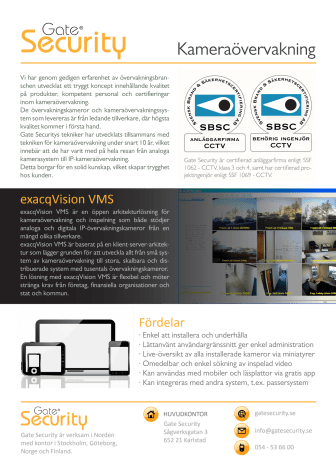 Kameraövervakning för butiken