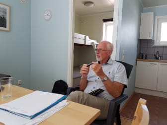 Ledningsgruppen för Utbildning Nord planerade  med Tom Tiller i Båtskärnsäs