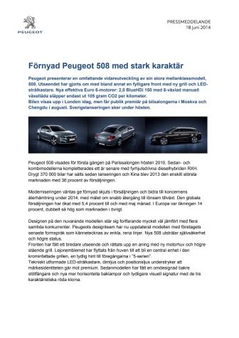 Förnyad Peugeot 508 med stark karaktär