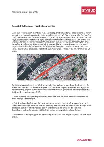Veidekke väljer Styrud för ledningsbygge i storprojekt