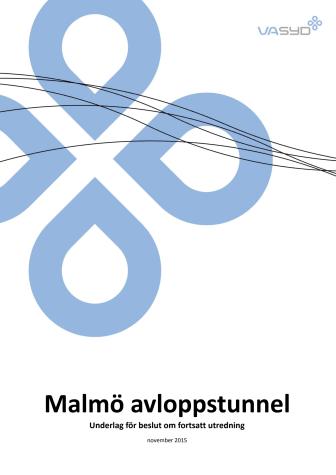 Malmö avloppstunnel beslutsunderlag
