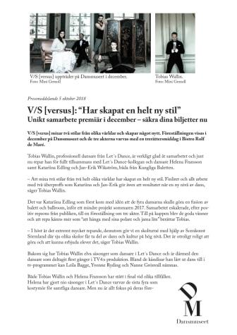 """V/S [versus]: """"Har skapat en helt ny stil"""""""